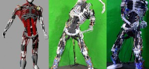 Kenshiro: le robot fait de muscles et d'os artificiels
