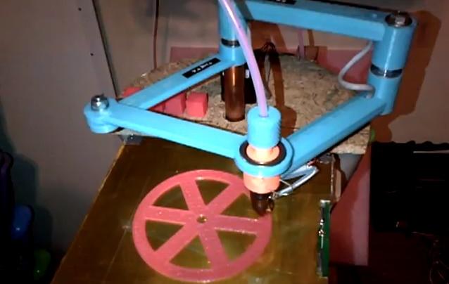 Morgan RepRAP : Une imprimante SCARA 3D avec deux bras concentriques
