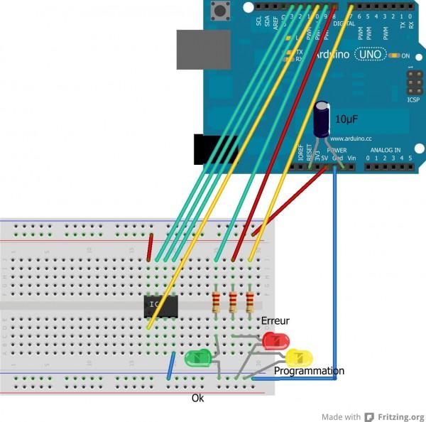 tuto programmation des attiny45 avec un arduino 01 600x594 TUTO : Programmation des ATtiny avec un Arduino