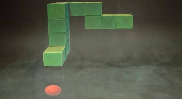 Vidéo : Une animation stop motion du jeu Snake en 3D