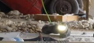 Démonstration du robot serpent dans le cadre de la recherche et du sauvetage