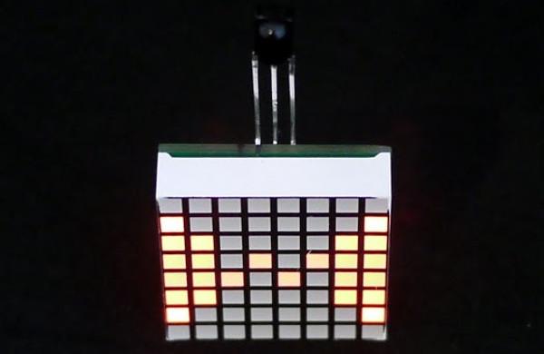 Minimatrix : Un montage électronique minimaliste avec une matrice de LED