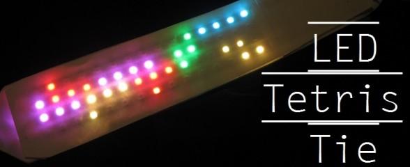 DIY : La cravate de geek ultime avec une matrice LED jouant Tetris
