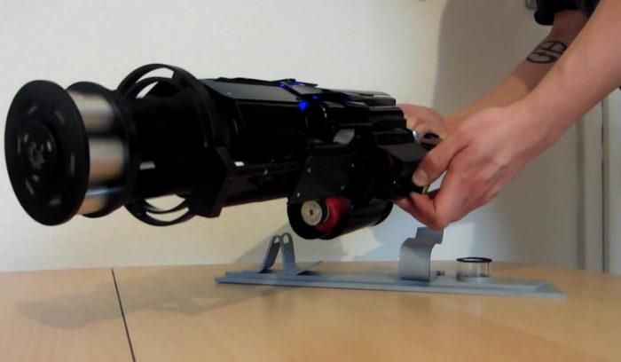 Gatling : Un magnifique prototype de sulfateuse laser