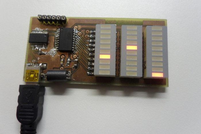 DIY : Fabriquer un moniteur système USB avec des bargraphs à LED