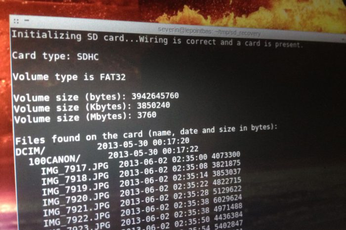 DIY : Récupérer le contenu d'une carte SD avec un Arduino
