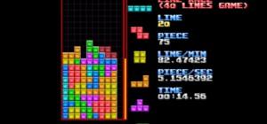 Tetris : Un nouveau record de Course Line, ça va vite, très vite…
