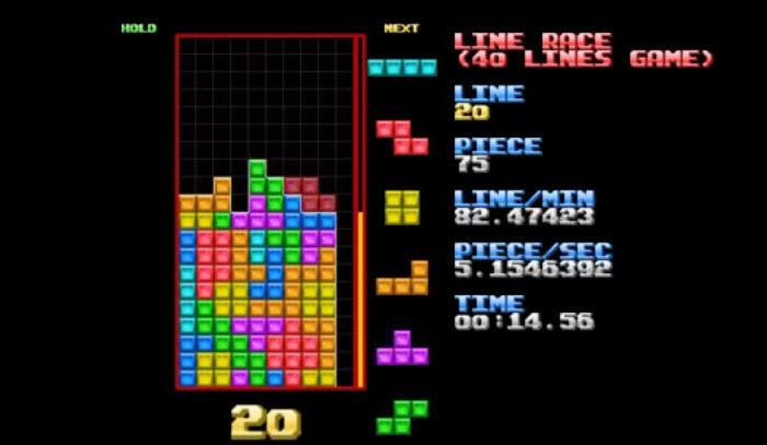 Tetris : Un nouveau record de Course Line, ça va vite, très vite...