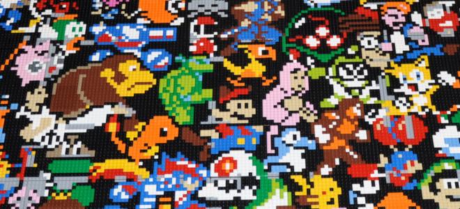 Une mosaïque retro-gaming réalisée avec 10000 pièces de LEGO