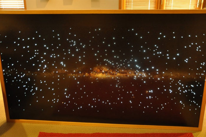 DIY : Fabriquer un poster de la voie lactée éclairé avec de la fibre optique