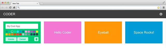 Google Coder : Un serveur Web pour apprendre à développer.