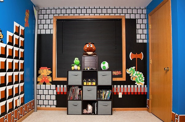 Une Superbe Decoration De Chambre Sur Le Theme Super Mario Bros