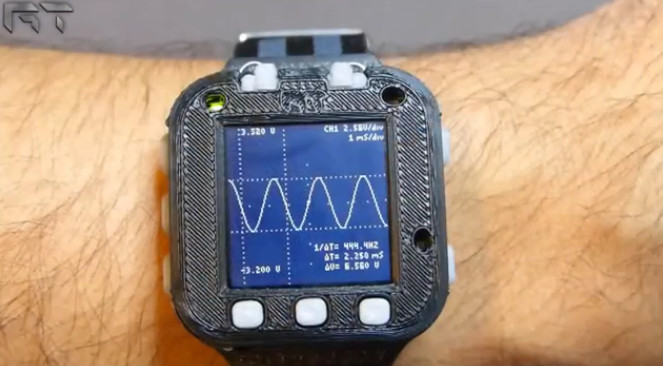 Oscilloscope Watch : L'évolution version geek et DIY de la montre calculatrice