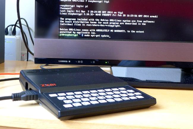 ZX-Pi : Un sinclair ZX81 dopé à la Raspberry PI et à L'Arduino Leonardo