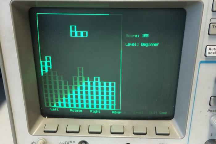 Un Easter Egg dans les oscilloscopes pour jouer à Tetris ou Asteroids