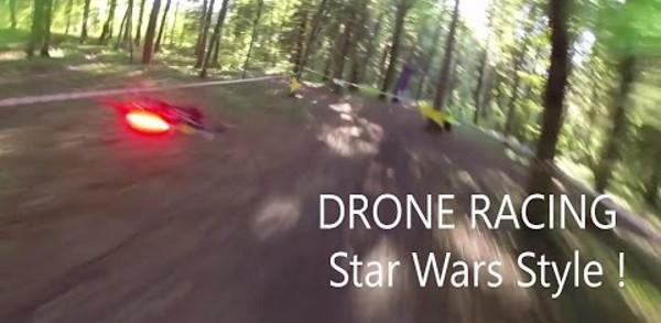 Une course de drone à la façon de Star Wars Pod Racer