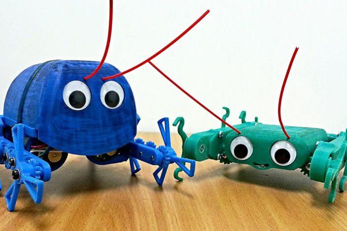 Billy et Charlie, deux petits robots imprimés en 3D