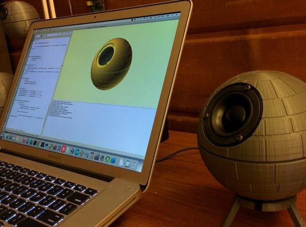 NOMOON : Un haut-parleur configurable imprimé en 3D en forme d'Etoile de la Mort