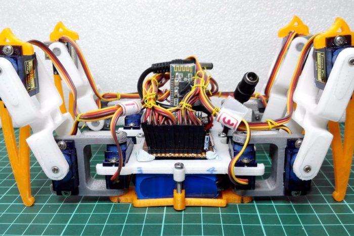 DIY : Un robot araignée quadrupède imprimé en 3D et à base d'Arduino