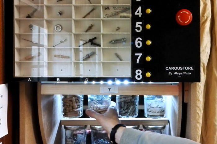 Caroustore : Un distributeur de vis motorisé à base d'Arduino