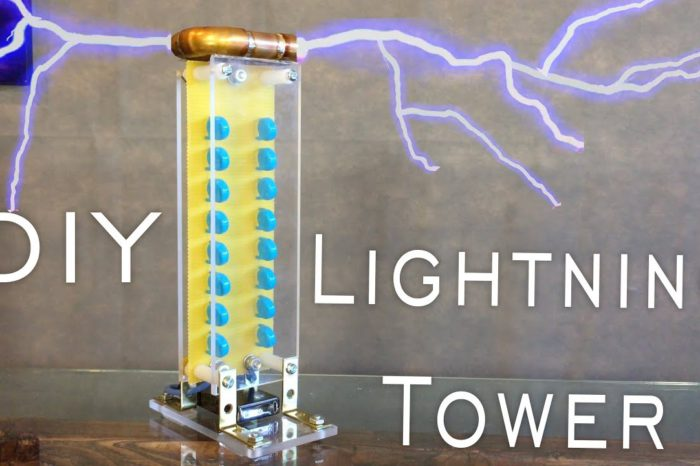 DIY : Fabriquer un générateur de foudre à partir d'un briquet électrique