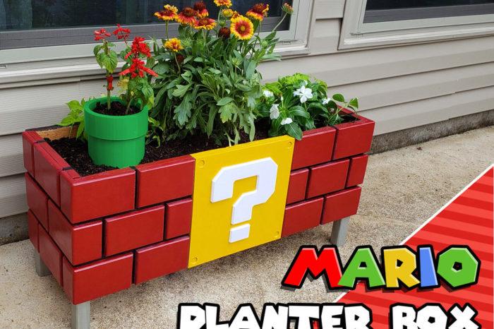DIY : Fabriquer une jardinière sur le thème de Mario