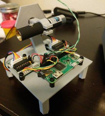 DIY : Un laser piloté par Raspberry PI qui affiche la météo