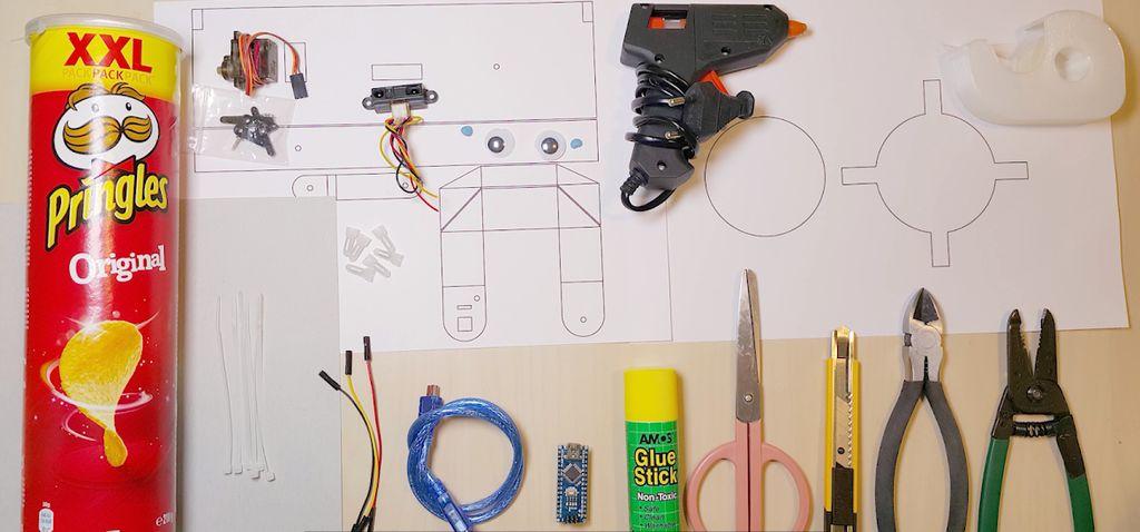 Diy fabriquer un robot mangeur de pièces avec une boite